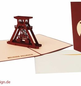 Pop up greeting card, shaft tower