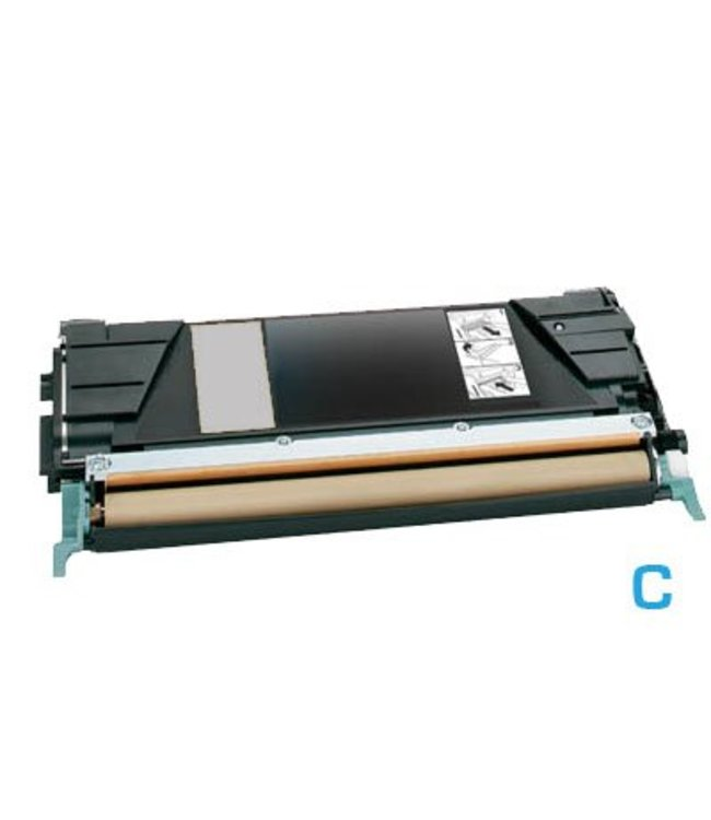 TonerWinkel Huismerk cyaan (Lexmark (X748H1CG) Toner cyaan (10000afd.)) Toner 10000 (X748H1CGafd.)