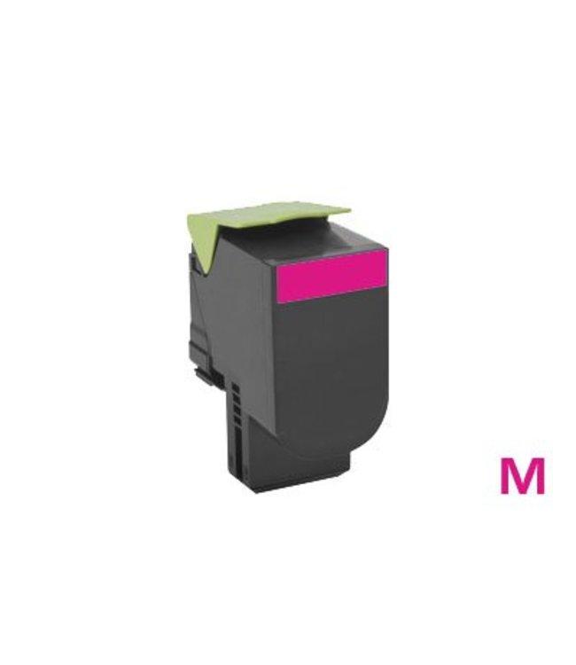 TonerWinkel Huismerk magenta (Lexmark (80C2XM0) Toner magenta (4000afd.)) Toner 4000 (80C2XM0afd.)