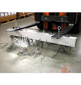 Cleantechniek Magneetveger met lossysteem voor heftruck