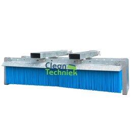 Cleantechniek Vaste heftruckveger met industriële veegborstel gelavaniseerd- 150  cm