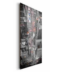 Schilderij Times square, helicopter view