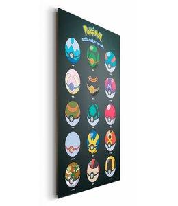 Schilderij Pokemon - pokeballs