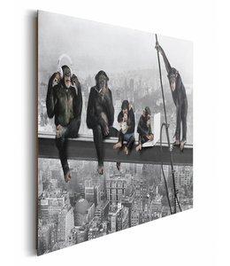 Schilderij Apen boven New York