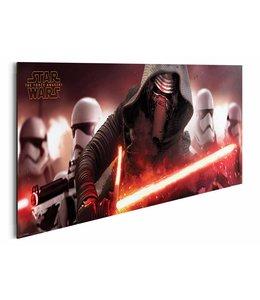 Schilderij Star Wars Episode VII - Kylo Ren & stormtroopers