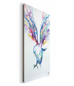 Schilderij Aquarel vogel