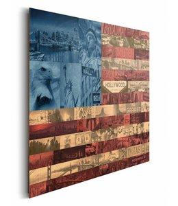 Schilderij Vlag USA