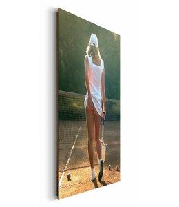 Schilderij Tennis blote kont