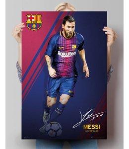 Poster Lionel Messi FC Barcelona 17/18