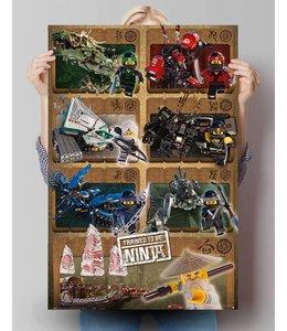 Poster Lego Ninjago Mechs