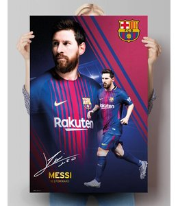 Poster Lionel Messi FC Barcelona 17/18 - Collage