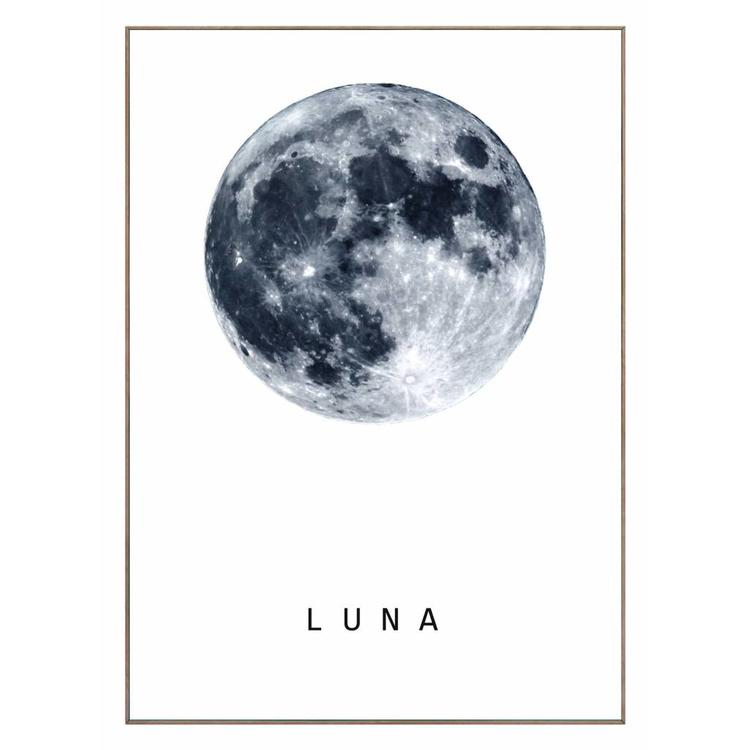 Maan  - Schilderij 50 x 70 cm