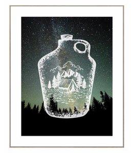 Schilderij Kamperen in de bergen