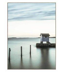 Schilderij Hut aan het meer