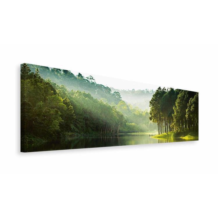 Mysterieus meer - Schilderij 118 x 40 cm