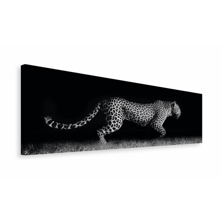 Sluipend Luipaard - Schilderij 118 x 40 cm