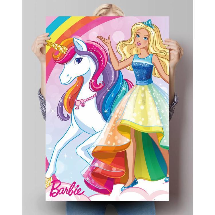 Barbie Eenhoorn - Poster 61 x 91.5 cm