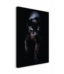 Schilderij zwarte panter