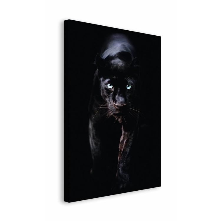 zwarte panter  - Schilderij 118 x 70 cm