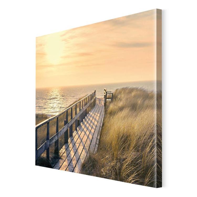 Strandpad Vlonder door de duinen - Schilderij 80 x 60 cm