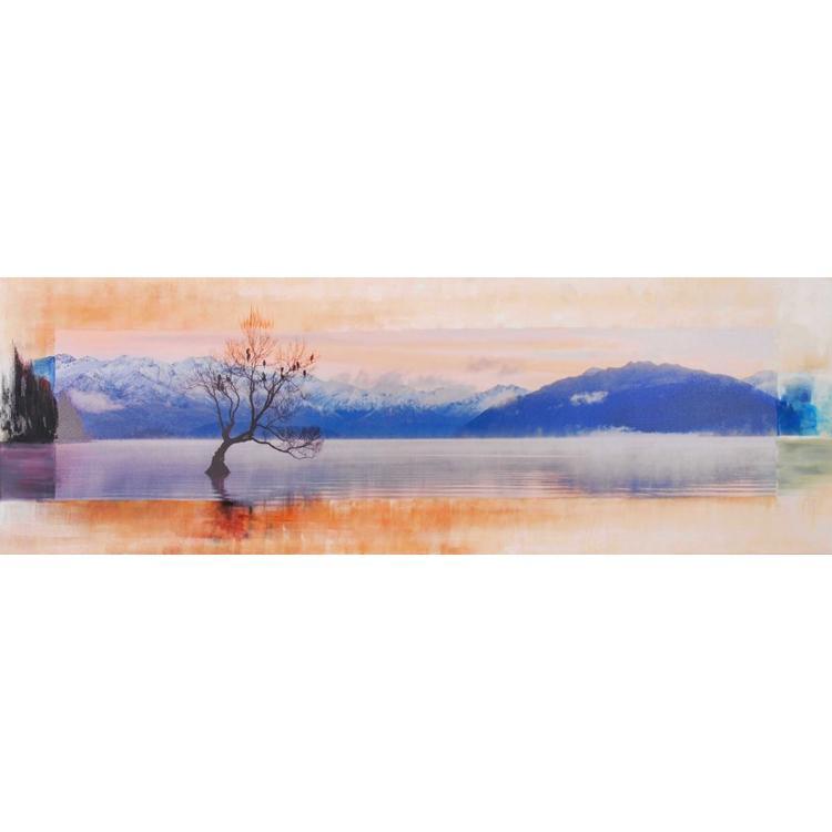 Lake Wanaka Winterbeeld - Schilderij 150 x 50 cm