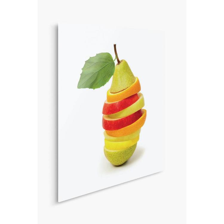 Fruit  Gesneden 1 - Schilderij 30 x 30 cm
