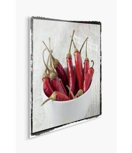 Schilderij Pepers Rood 2