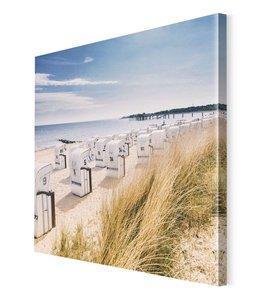 Schilderij Strandstoelen Oostzeekust