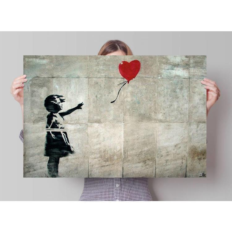 Banksy Girl with Balloon - Poster 91.5 x 61 cm