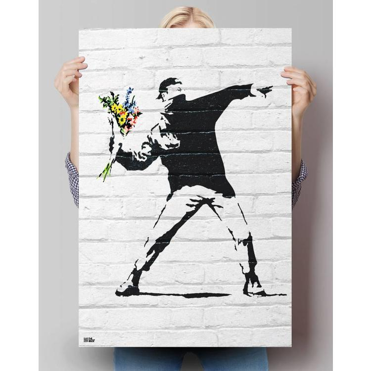 Banksy Flower Bomber - Poster 61 x 91.5 cm