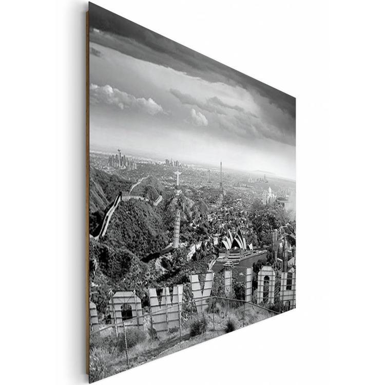 Dronken wereld - Schilderij 140 x 100 cm