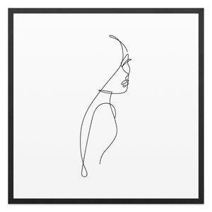 Schilderij Vrouwelijk silhouet