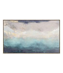 Schilderij Abstracte kunst Blauw
