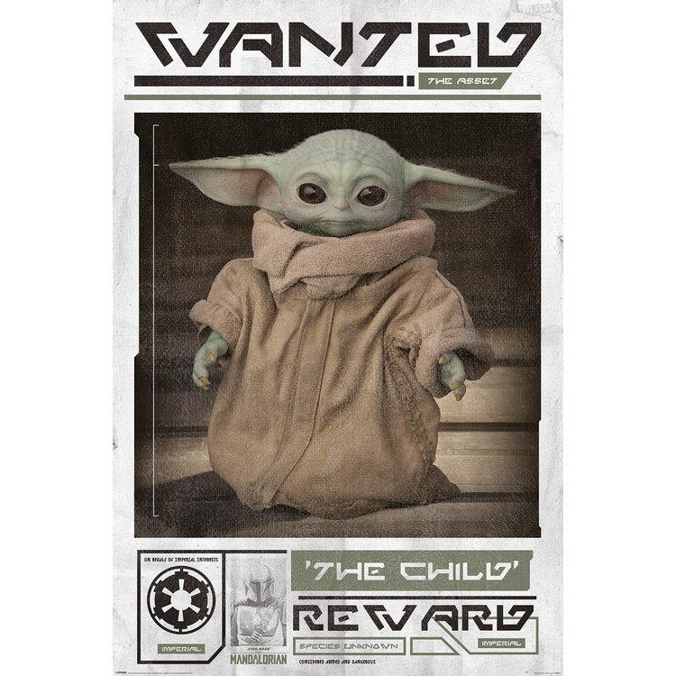 Star Wars The Mandalorian Baby Yoda - Poster 61 x 91 cm
