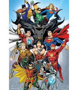 Poster DC Comics Superhelden Superman Wonderwoman Flash Batman