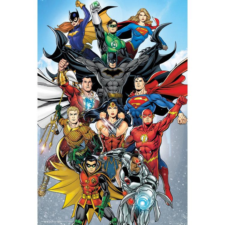 DC Comics Superhelden Superman Wonderwoman Flash Batman - Poster 61 x 91 cm
