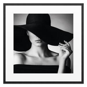 Schilderij Zwarte hoed