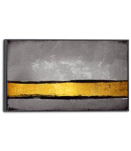Schilderij Gouden lijn Abstract - Modern - Kunst