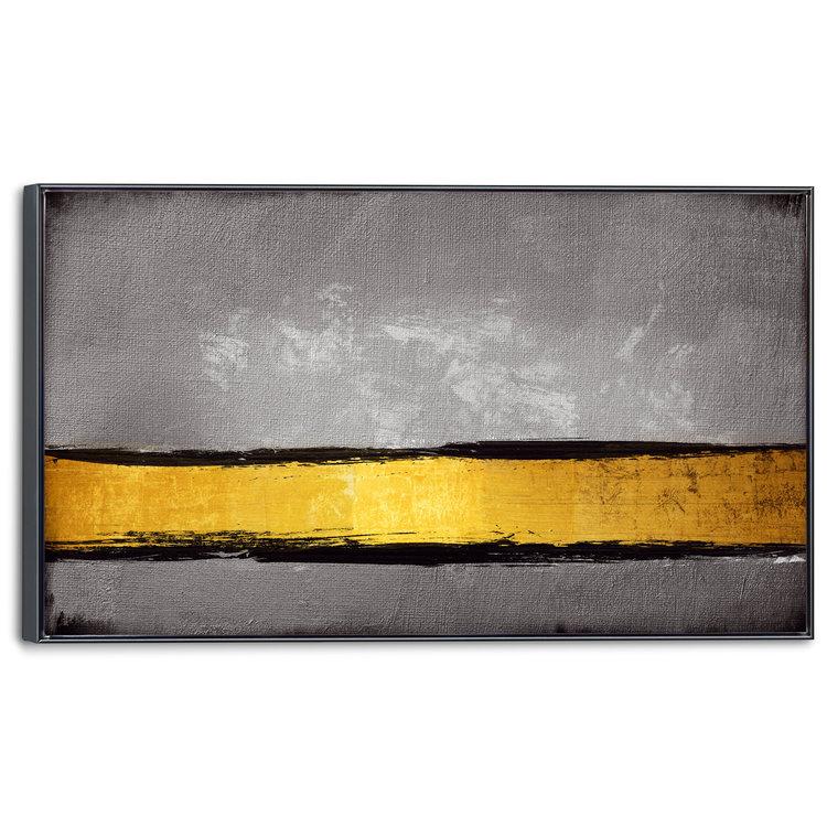 Gouden lijn Abstract - Modern - Kunst - Schilderij 118 x 70 cm