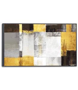 Schilderij Gouden kubussen Abstract - Modern - Kunst