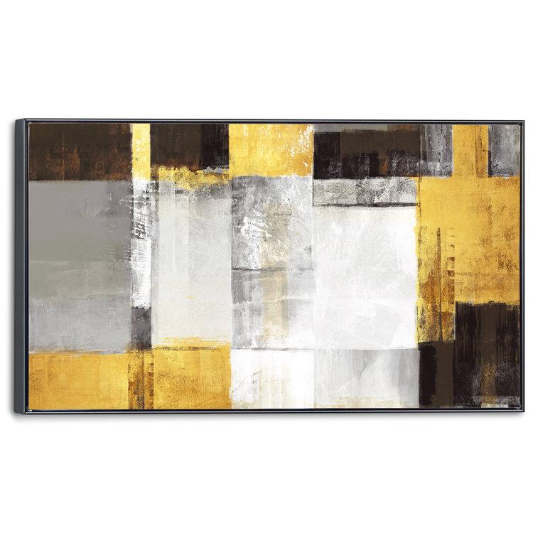 Gouden kubussen Abstract - Modern - Kunst - Schilderij 118 x 70 cm