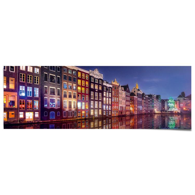 Amsterdamse grachten - Poster Poster 158 x 53 cm