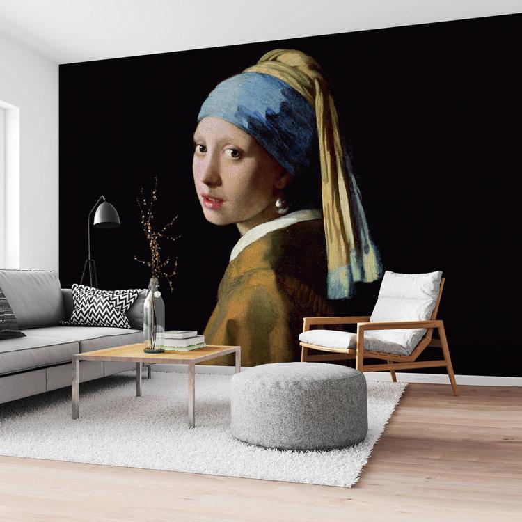 Meisje met de parel Johannes Vermeer - Oude Meesters - Kunst - Mauritshuis - Fotobehang 384 x 260 cm Vlies