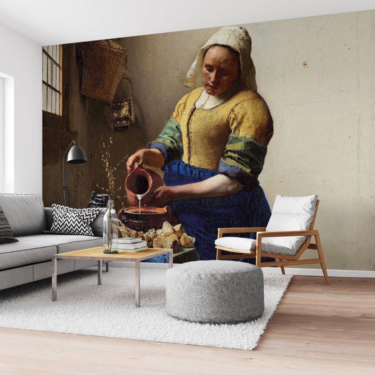Melkmeisje Johannes Vermeer - Oude meesters - Kunst - Rijksmuseum - Fotobehang 384 x 260 cm Vlies