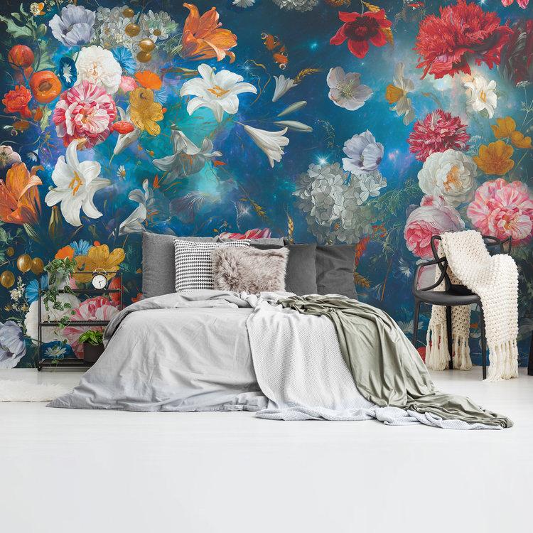 Bloemenwereld Bloemen - Planten - Kleurrijk - Fotobehang Vlies 384 x 260 cm
