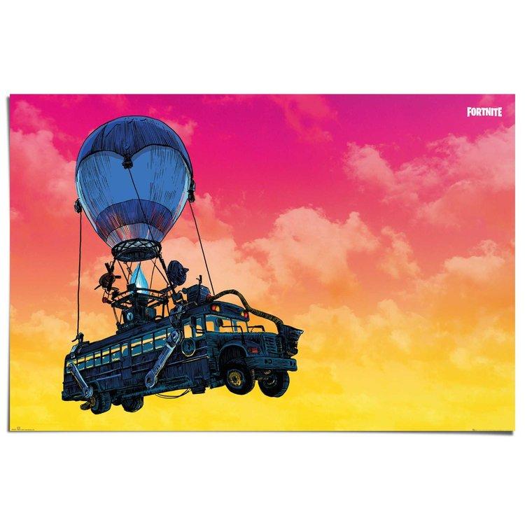 Fortnite Battle bus - Poster 91 x 61 cm