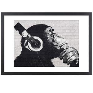 Wissellijst voor Posters 61x91,5 cm | zwart | hout | modern