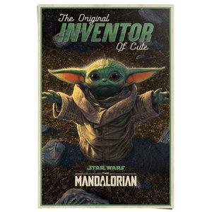 Poster Star Wars The Mandalorian cute baby Yoda