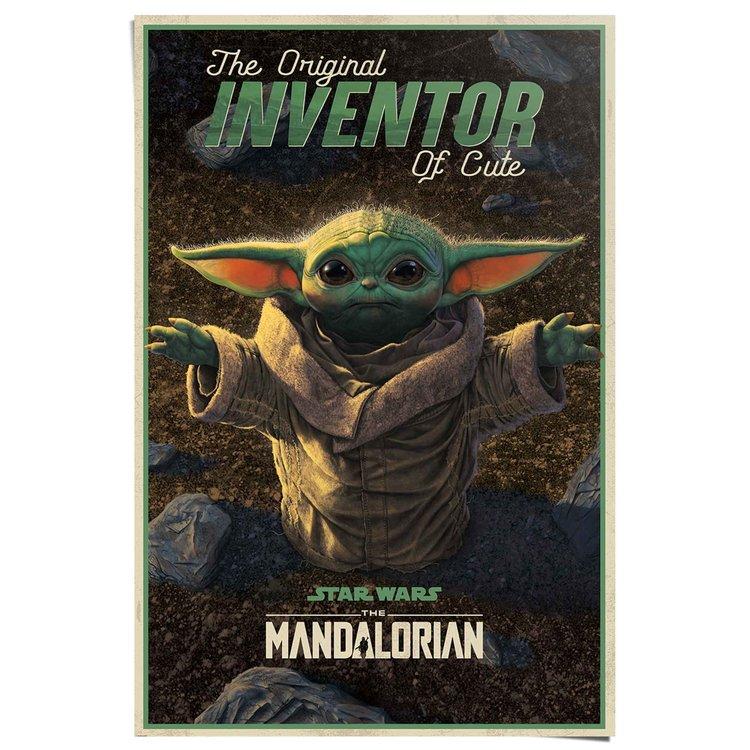 Star Wars The Mandalorian cute baby Yoda - Poster 61 x 91.5 cm Papier