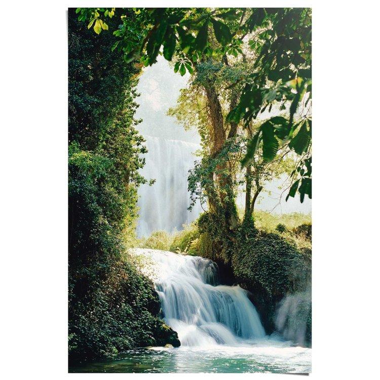 Watervallen Zaragoza  - Poster 61 x 91.5 cm